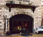Wood burning Fuego Flame Fireplace Insert - get up to 250 CFMs of heat with the patented non-electric blower system
